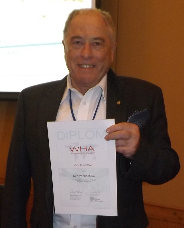 « Kurt Wüthrich (1938 - ) receives World Health Academy Gold Medal »<br />