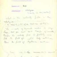 Interventions et commentaires sur le rapport du professeur Hoyle présenté lors du treizième Conseil de physique Solvay - 1964