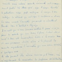 Brouillon de lettre d'Armand Solvay à William Pope - s.d.