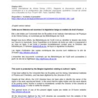 Rapports et discussions relatifs à la constitution et à la configuration des molécules organiques: quatrième Conseil de chimie tenu à Bruxelles du 9 au 14 avril 1931 - 1931