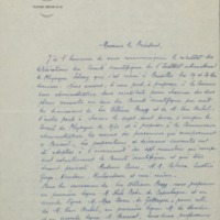 Lettre de Paul Langevin à William Pope - 30 mai 1929