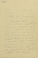 Lettre d'Ernest Solvay à Robert Goldschmidt + retranscription dactylographiée