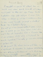 Lettre d'Armand Solvay à Octave Dony-Henault