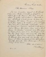 Lettre de Paul Héger à Ernest Solvay