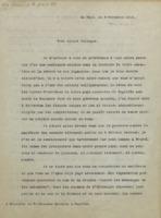 Lettre de Paul Héger à Hendrik Lorentz