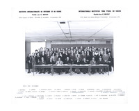 Seizième Conseil de chimie Solvay, photographie de groupe
