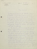Lettre de Marcel Brillouin à Charles Lefébure
