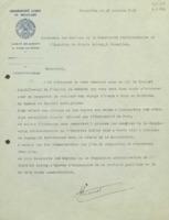 Lettre d'Alice Lacourt à la Commission administrative de l'Institut international de chimie Solvay