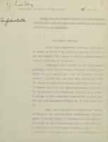 Lettre d'Ernest Solvay, 15 juin 1911 :  « Invitation à un « Conseil scientifique international pour élucider quelques questions d'actualité des théories moléculaires et cinétiques. »