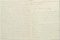 Lettre de Georges Hostelet à Ernest Solvay