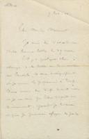 Lettre d'Ernest Solvay à Walther Nernst + retranscription dactylographiée