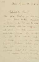 Lettre de Max Planck à Ernest Solvay