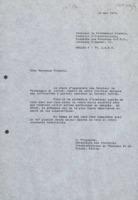 Lettre d'Ilya Prigogine à Alexander Frumkin