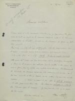 Lettre d'Henri Wuyts à Charles Lefébure