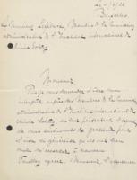 Lettre d'Hortense Van Risseghem à Charles Lefébure