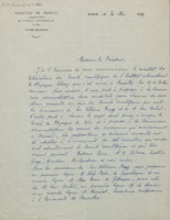 Lettre de Paul Langevin à William Pope