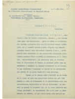 Lettre du « Conseil Scientifique International de l'Institut international de Physique Solvay » à Ernest Solvay