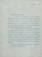 Lettre d'Émile Tassel à Ernest Solvay et Hendrik Lorentz