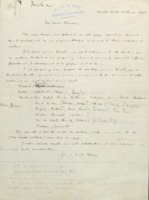 Lettre d'Ernest Solvay à Walther Nernst