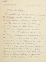 Lettre d'Édouard Herzen à Charles Lefébure