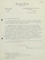 Lettre de Friedrich A. Paneth à  Jean Timmermans