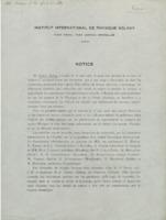 Notice sur l'Institut international de physique Solvay : épreuve