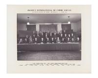 Neuvième Conseil de chimie Solvay, photographie de groupe