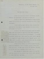 Lettre de Charles Lefébure à Ernest Solvay
