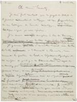Brouillon d'une lettre d'Ernest Solvay à Hendrik Lorentz