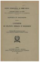 Institut international de chimie Solvay (1935). <em>Rapports et discussions relatifs à l'oxygène: ses réactions chimiques et biologiques : cinquième Conseil de chimie tenu à l'Université de Bruxelles du 3 au 8 octobre 1934.</em> Paris: Gauthier-Villars