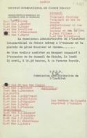 Banquet : préparatifs, neuvième Conseil de chimie Solvay