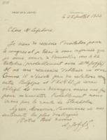 Lettre d'Abram Ioffé à Charles Lefébure