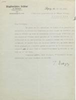 Lettre de Peter Debye à Charles Lefébure