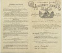 Contrat de rente temporaire d'une valeur d'un million de francs belges signé par Ernest Solvay (Projet)